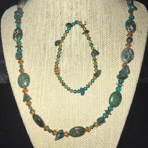 Swarovski Crystal and Precious Stone Jewelry Set